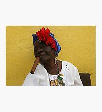 Cuban Woman with cigar Photographic Print