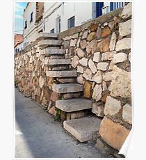 Escalera piedra. Poster