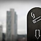 London ash tray smoking by Heather Buckley