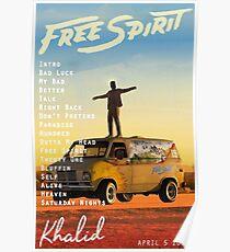Póster Espíritu libre de Khalid
