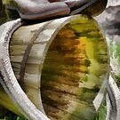 Cowboy Boots on a Barrel in Oil Painting by photosbypamela