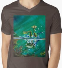 Frog Splash #2 Men's V-Neck T-Shirt