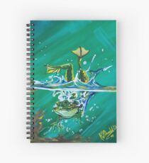 Frog Splash #2 Spiral Notebook