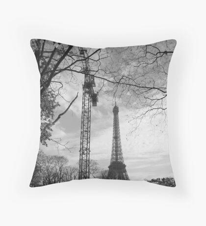 Eiffel crane Throw Pillow