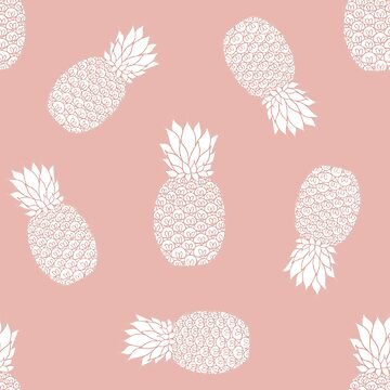 Rose Gold Pineapple Pattern by julieerindesign