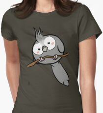 White-Face Cockatiel Womens Fitted T-Shirt