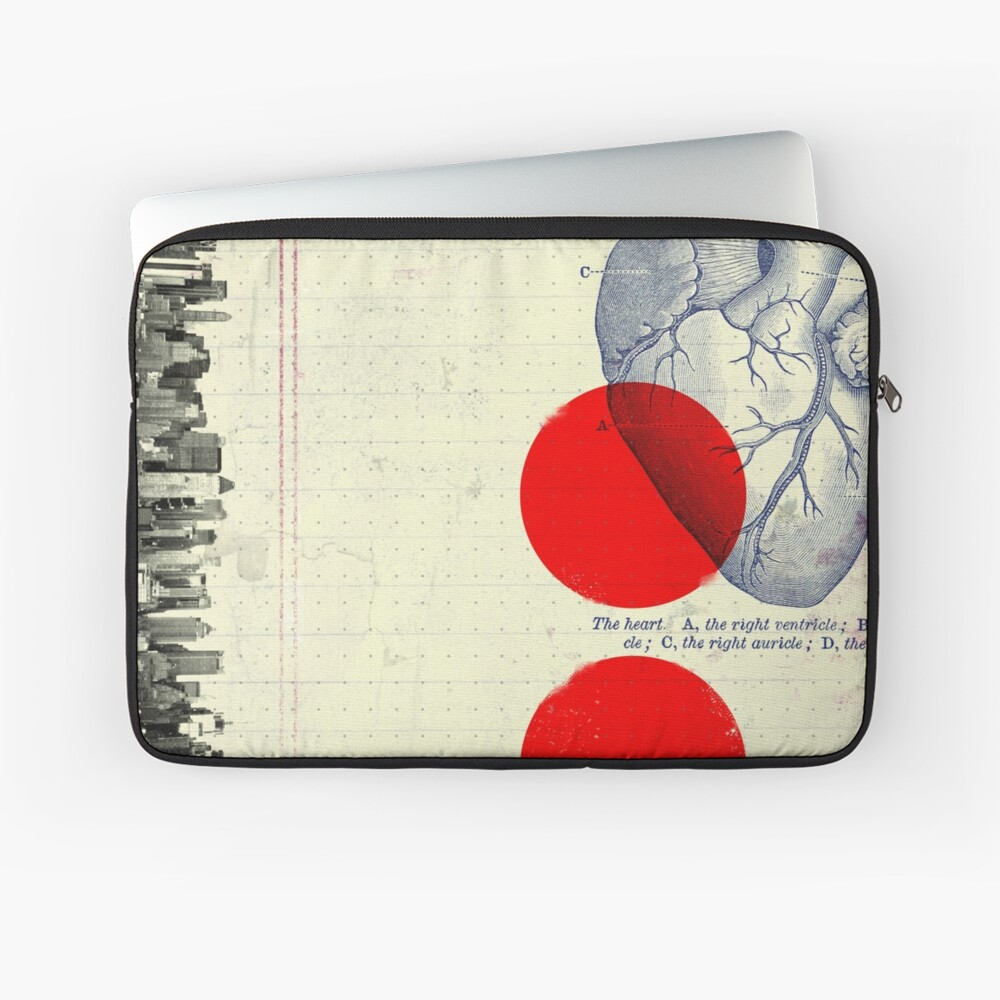 Heart 01 - Modern Abstract Collage Laptop Sleeve