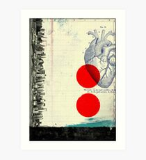 Heart 01 - Modern Abstract Collage Art Print