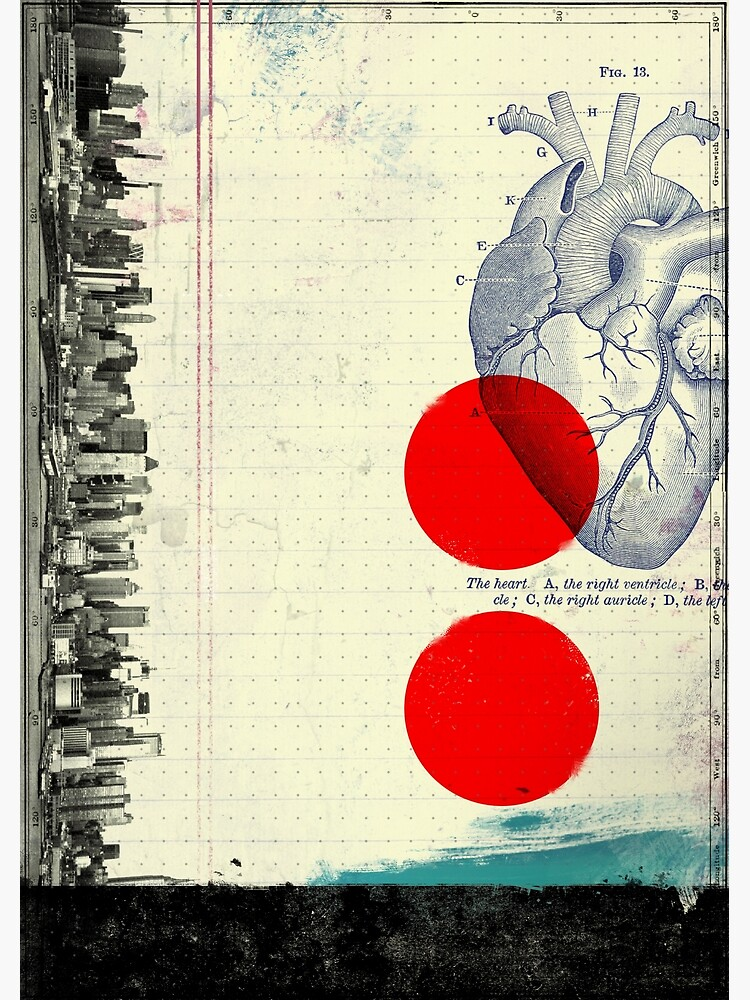 Heart 01 - Modern Abstract Collage by alejandromonge