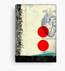 Heart 01 - Modern Abstract Collage Canvas Print