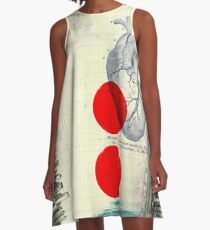 Heart 01 - Modern Abstract Collage A-Line Dress