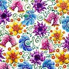 Summer Flowers by ShelleyYlstArt