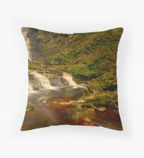 Mill Gill Force, Askrigg, Wensleydale, Yorkshire Dales Throw Pillow