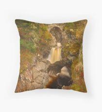 Falls of Bruar, Bruar, Perthshire, Scotland Throw Pillow