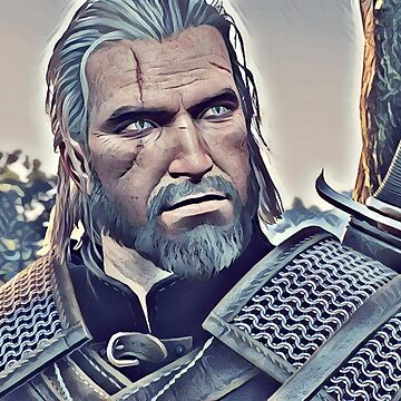 The Witcher Geralt (Game Art) by mia-scott