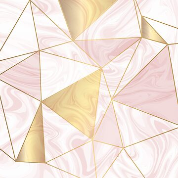 Marble Geometric Texture Pattern #3 - Rose, Gold, Pink, White by iamnickv