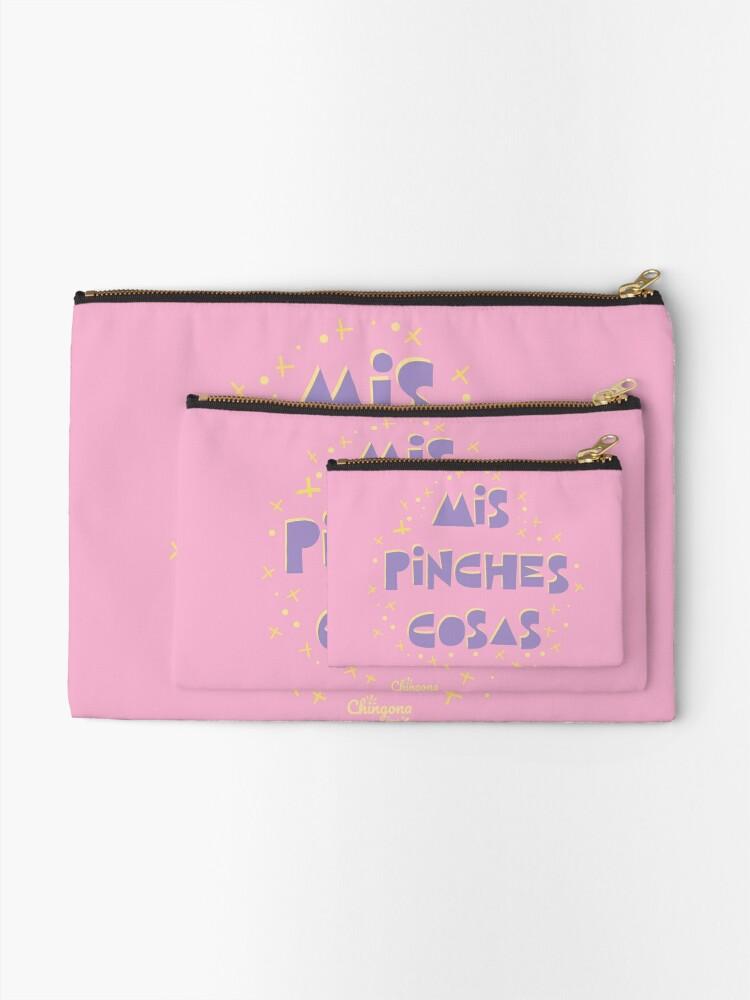 Alternate view of Mis Pinche Cosas Zipper Pouch