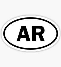 Arkansas - AR - oval sticker Sticker