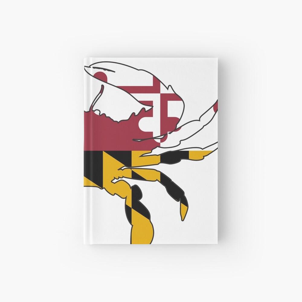 Cangrejo de la bandera de Maryland Cuaderno de tapa dura