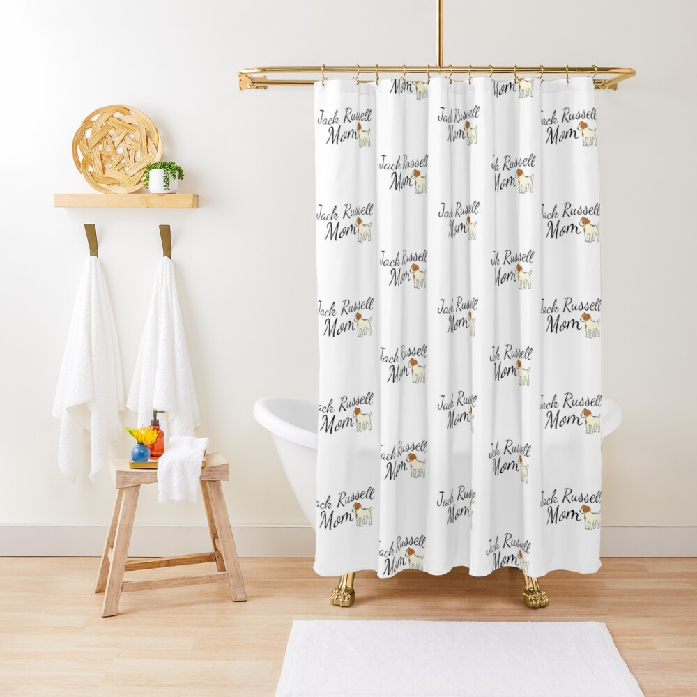 Jack Russell Terrier Mom Shower Curtain