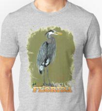Florida Blue Heron  Slim Fit T-Shirt