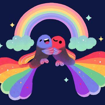 Rainbow guppy 1 by pikaole