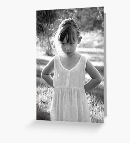 Innocent Girl Greeting Card