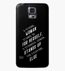 A Strong Woman Case/Skin for Samsung Galaxy