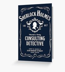 World's Only Consulting Detective Greeting Card