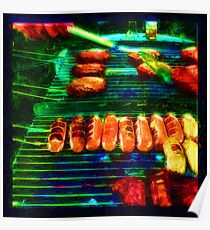 Hot Links, Burgers and Baby Back Ribs Poster