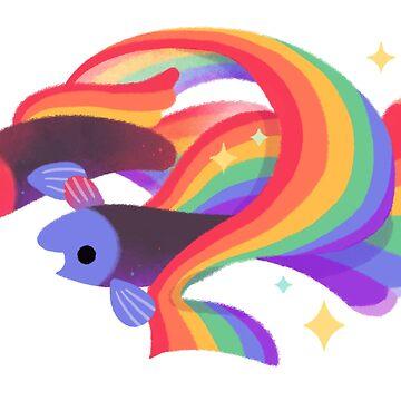 Rainbow guppy 3 by pikaole