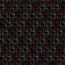 Kawaii Neon Bunny Bows by Marceline Smith