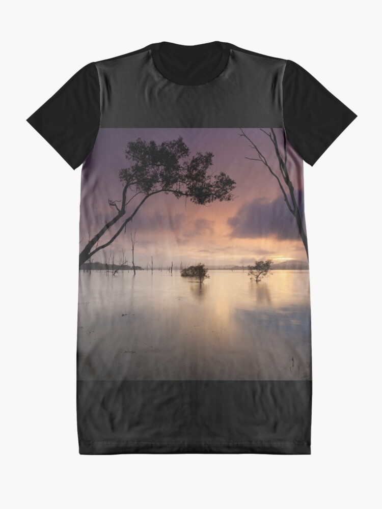 Alternate view of Flooded valley Graphic T-Shirt Dress