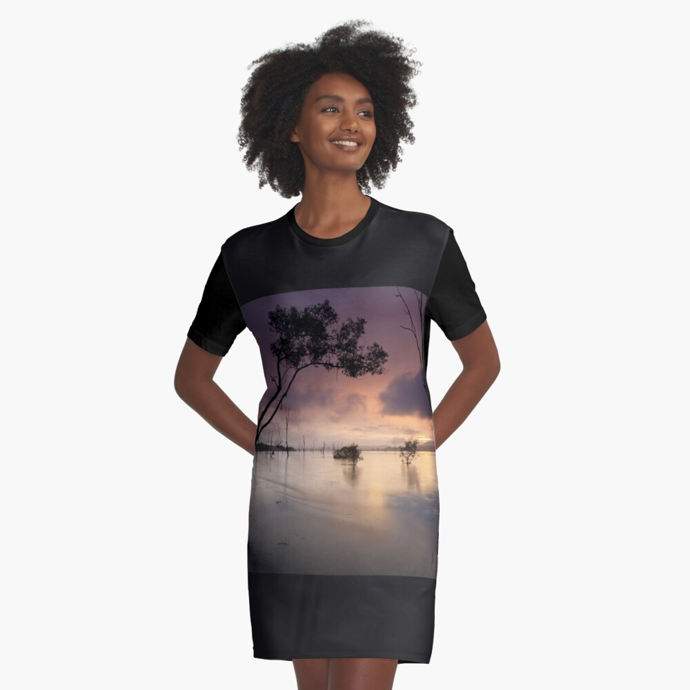 Flooded valley Graphic T-Shirt Dress