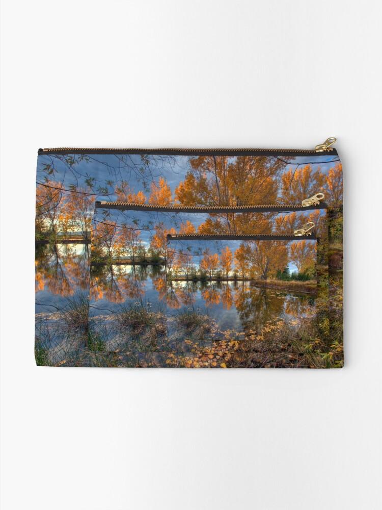 Alternate view of Autumn in Otago County Zipper Pouch