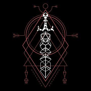 Magia brujería Dados poliédricos Set Espada de Dungeon Armory de pixeptional