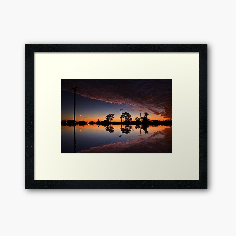 That sky Framed Art Print