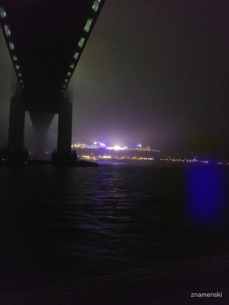 Early Morning at #Verrazzano-Narrows Bridge, #Cable-#stayed #bridge  by znamenski