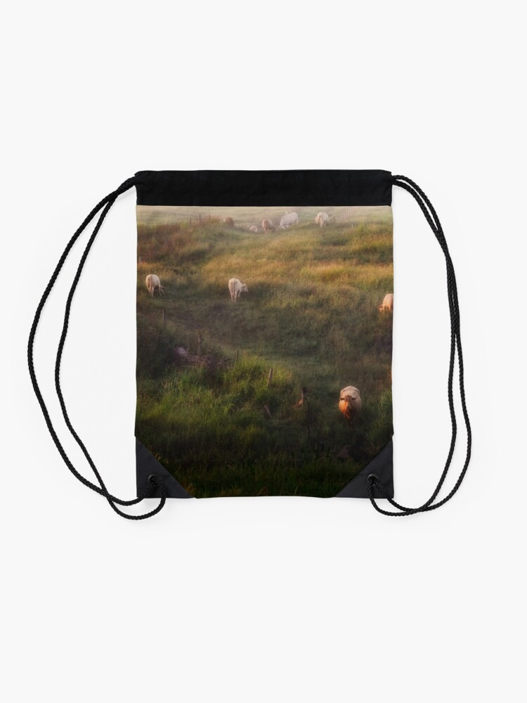 Alternate view of The cows Drawstring Bag