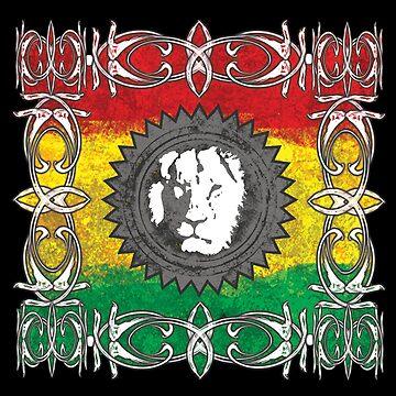 Löwe Reggae mystisch - Dein neues Raggaeshirt, der Festivalsommer kann kommen!   von Periartwork