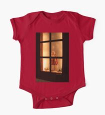 Little Antique Santa in the Window One Piece - Short Sleeve