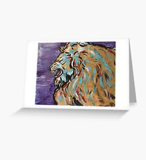Roaring Golden Lion Greeting Card