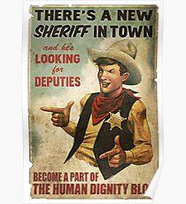 Fallout Human dignity bloc Poster