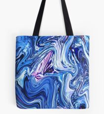 Ocean Swirls - Blue Planet Abstract Modern Art Tote Bag