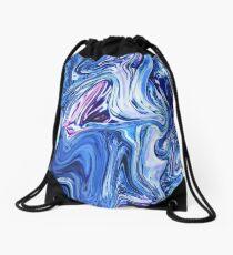 Ocean Swirls - Blue Planet Abstract Modern Art Drawstring Bag