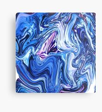 Ocean Swirls - Blue Planet Abstract Modern Art Metal Print