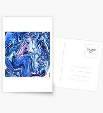 Ocean Swirls - Blue Planet Abstract Modern Art Postcards