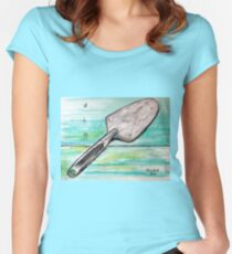 The best designed trowel on the market... Women's Fitted Scoop T-Shirt
