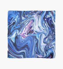 Ocean Swirls - Blue Planet Abstract Modern Art Scarf