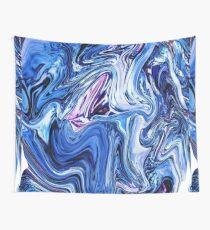 Ocean Swirls - Blue Planet Abstract Modern Art Wall Tapestry